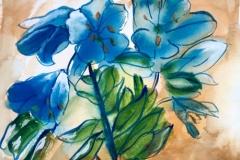 Blue lilies.