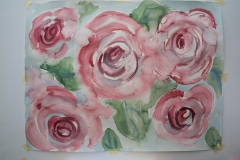 Roses. Watercolour. Unframed, A1 size. £100