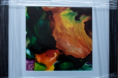"Meditation 2. 12"" square - alcohol inks. £110."