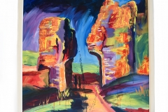 Abstract Corfe. Another one would go well with the other Corfe, will bring colour to any décor.