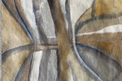 "Tree Reflection. Watercolour, unframed. 12"" x 11"". £30 ."