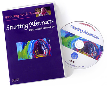 'Starting Abstracts'. How to start abstract art, a DVD by Penny Wilton.