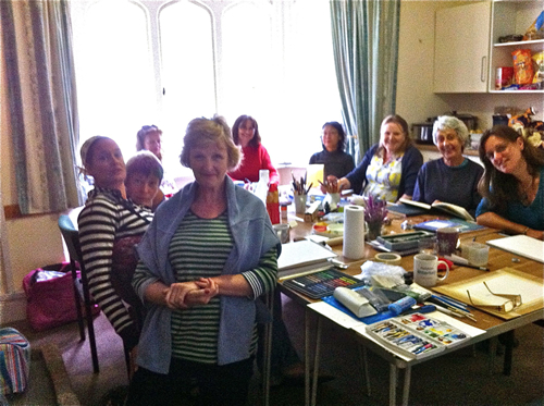 Penny Wilton's Brownsea art classes 2015