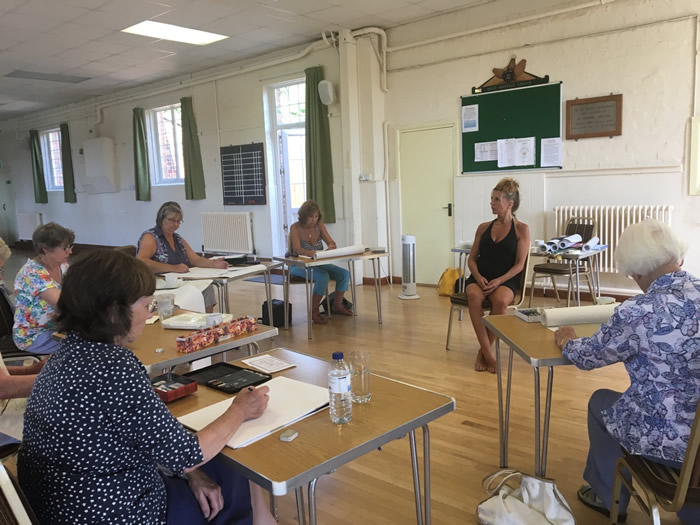 Life drawing classes at Holt, Dorset, with Penny Wilton.