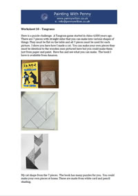 Worksheet 10 - Tangrams.