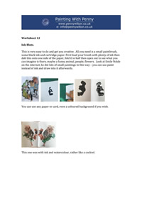Worksheet 12- Ink Blots