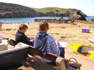 Painting holidays at Hope Cove, Devon, with Penny Wilton